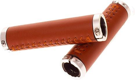 FK Cycling puños Bicicleta Clasica Vintage Abrazadera Cuero Microfibra PU: Amazon.es: Deportes y aire libre