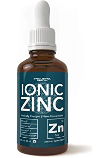 Zinc Supplement - Most Bioavailable Zinc – Ionically Charged, Nano-Concentrate & Essential Co