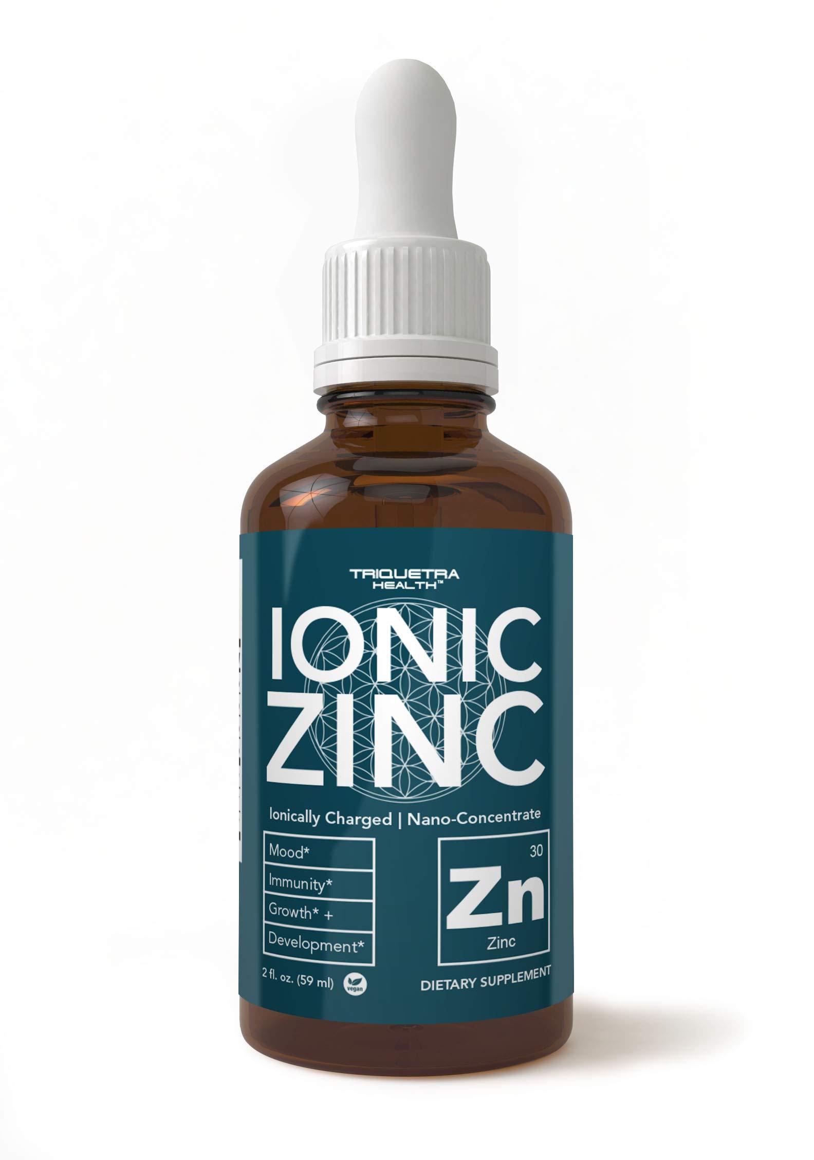 Zinc Supplement - Most Bioavailable Zinc – Ionically Charged, Nano-Concentrate & Essential Co-Factors – Liquid Zinc Sulfate Form Plus Zinc Copper Co-Factor – Ionic Zinc – 240 Servings