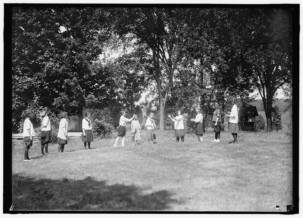 Vintography Reproduced 8 x 10 Photo Young Women's Christian Association. Scenes at Y.W.C.A. Camp 1919 Harris & Ewing a92