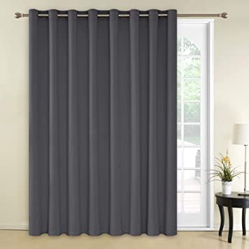 Amazoncom Deconovo Blackout Curtains 1 Panel Wide Width Curtain