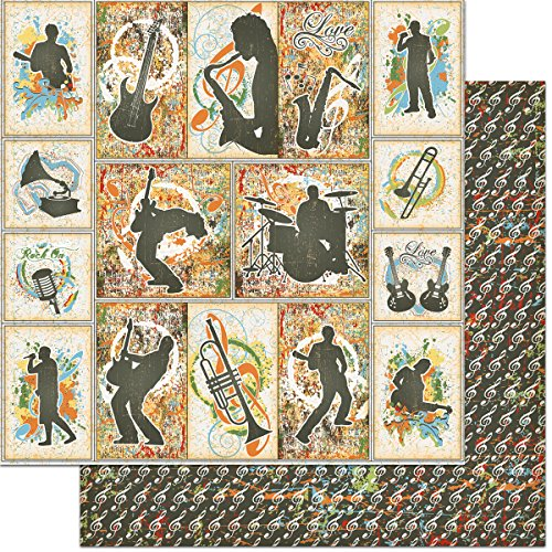 Teenagers Double-Sided Cardstock 12''X12''-Music by Feature Art