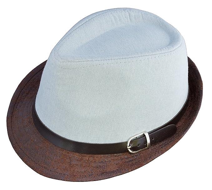 ea5ca0db86d Amazon.com  BePe Baby Fedora Hat - Denim - Light Blue  Clothing