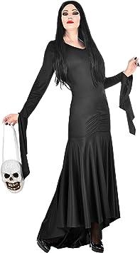 WIDMANN 01879 - Disfraz de morticia para mujer, color negro, talla ...