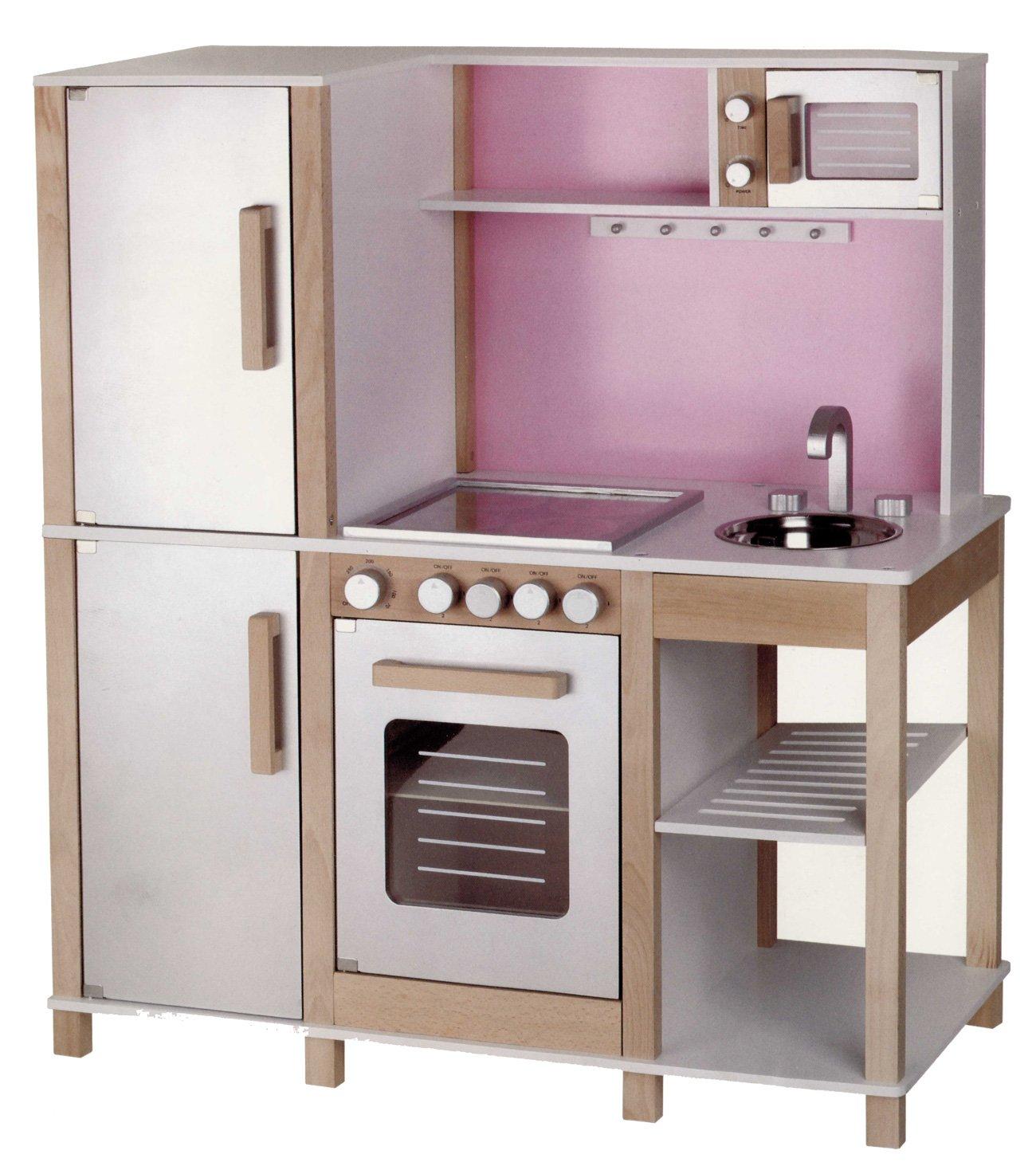 SUN Kinderküche mit Mikrowelle, Rosa
