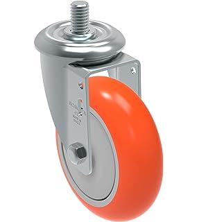 275 lb 1//2 Diameter x 2 Length Threaded Stem Schioppa GLEIH 412 NPE G L12 Series 4 x 1-1//4 Diameter Swivel Caster with Total Lock Brake Non-Marking Polypropylene Precision Ball Bearing Wheel