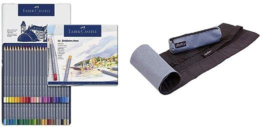 Faber-Castell 114624 GOLDFABER - Lápices de acuarela (24 unidades, estuche metálico, 48 piezas de estaño + estaño para lápiz): Amazon.es: Industria, empresas y ciencia