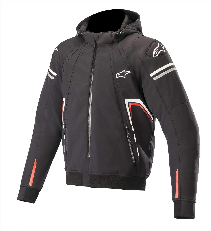 Blouson Moto Sektor Tech Hoodie Black White Red Alpinestars