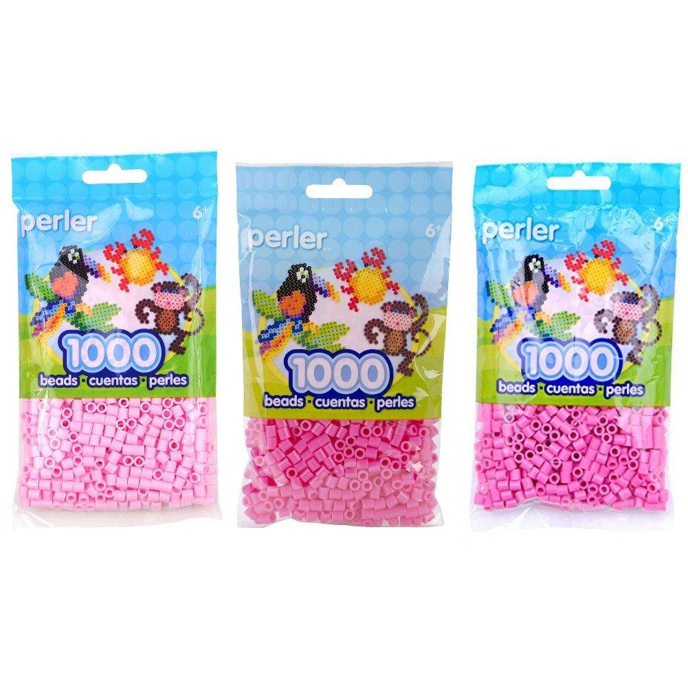 Canutillos beads 3000 unidades (pack x3) tonos rosas