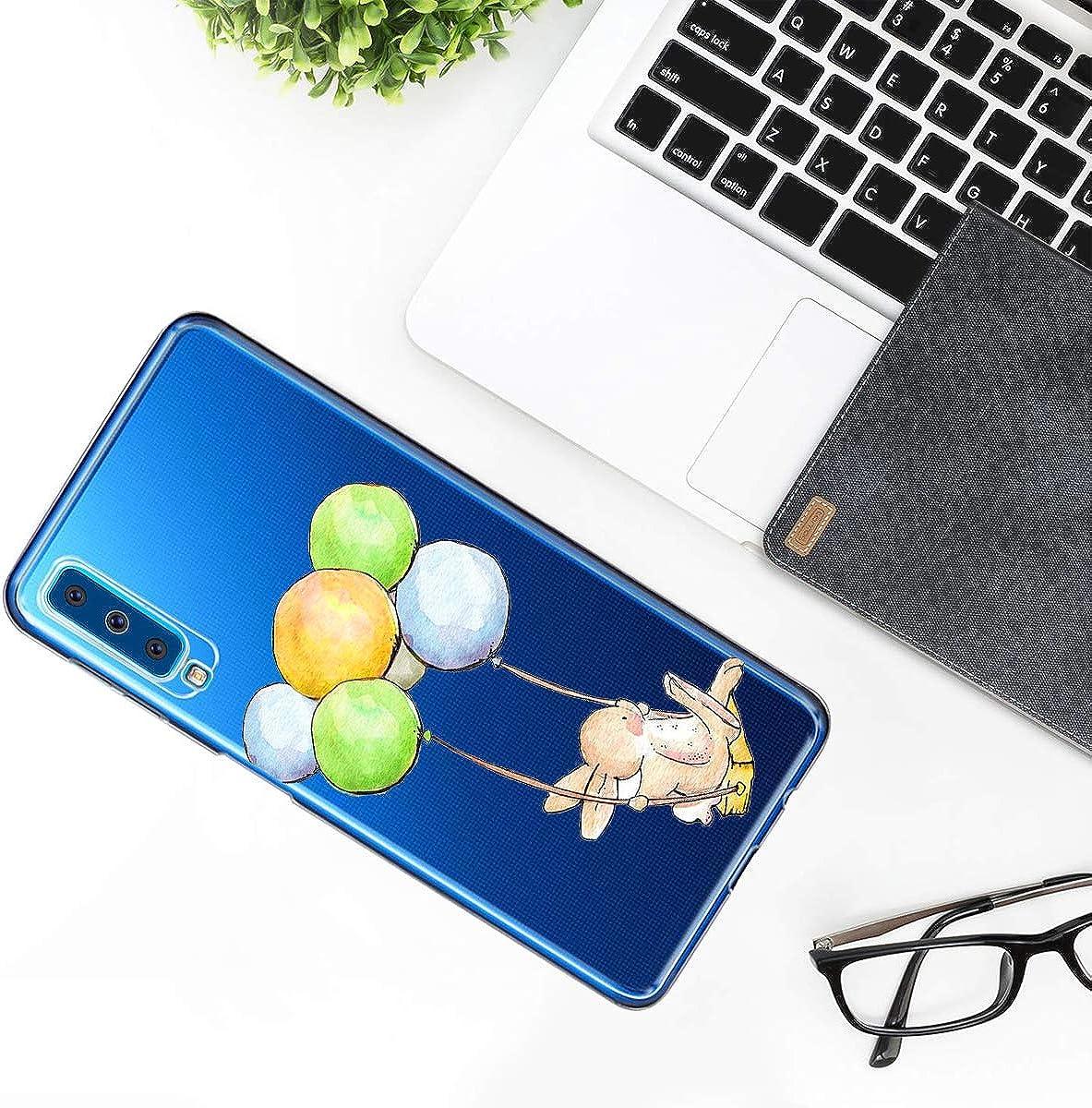 Case Kompatibel mit Samsung Galaxy A9 2018 H/ülle Transparent Kristall HandyH/ülle Ultraslim Weich Silikon Tier case Sto/ßfest Anti-Kratzen Schutzh/ülle Bumper Cover f/ür Samsung Galaxy A9 2018