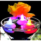 12 Candele LED Galleggianti Colorate - Lumini a Batteria Cambia Colore per Piscina, Matrimonio, Bagno, Spa di PK Green
