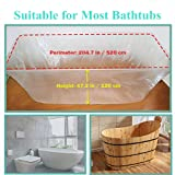 TopZK 5 Pack Disposable Bathtub Cover