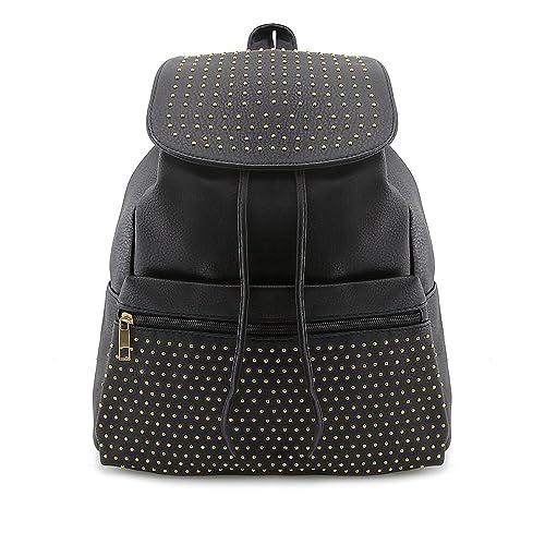 Bolsos mochila TWIG Hopper vegan cuero negro: Amazon.es: Zapatos y complementos