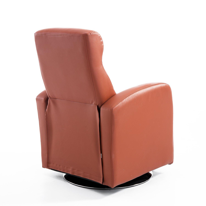 HOMCOM - Sillón reclinable y Piel sintética sillón reclinable sofá Tumbado Silla niños Acolchada Relax Lounge Asiento Ajustable reposapiés Muebles marrón: ...