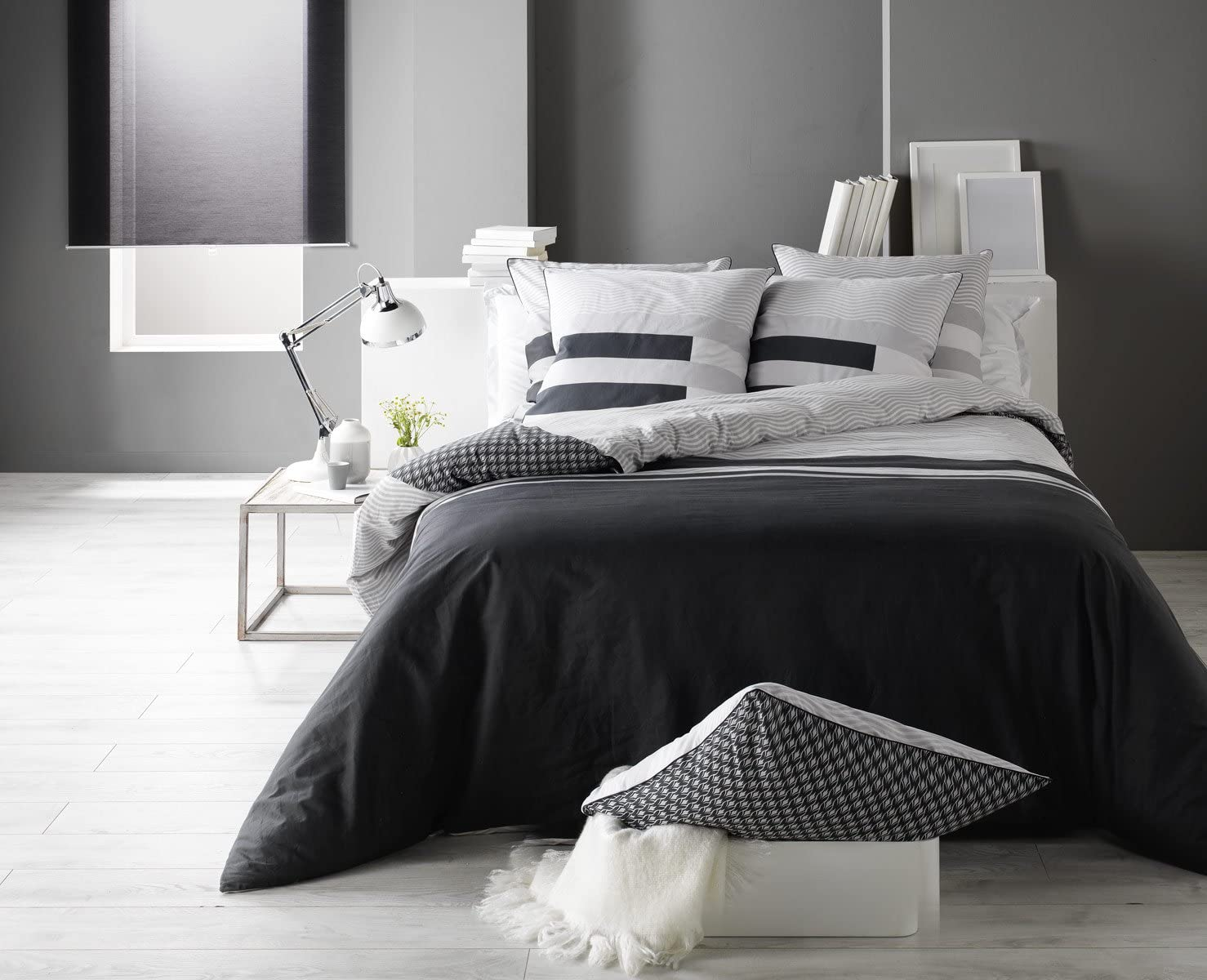 Funda nórdica de Kea 100% algodón 57 hilos/cm², gris, 260 x 240 ...