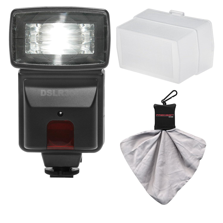 Precisionデザインdslr300高電源自動フラッシュディフューザー+アクセサリキットfor Nikon d3200 , d3300 , d5300 , d5500、d7100、d7200デジタル一眼レフカメラ   B003NX2FFO