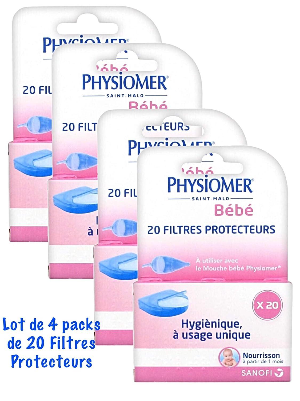 Juego de 4 filtros protectores para fysiomer mosca de beb/é Physiomer 20 unidades