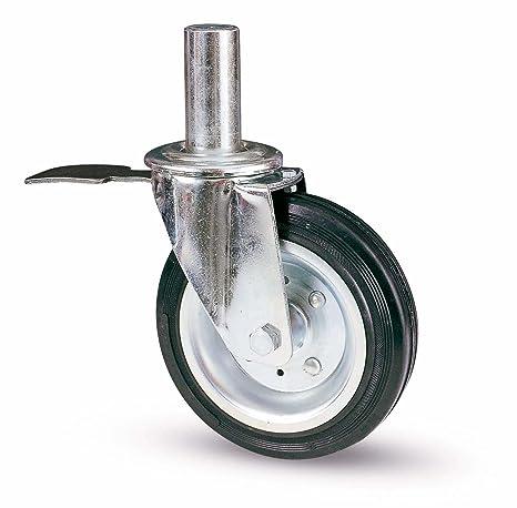 Rueda para andamios Innocenti 80/bis B-I, 200 mm de diámetro, con freno