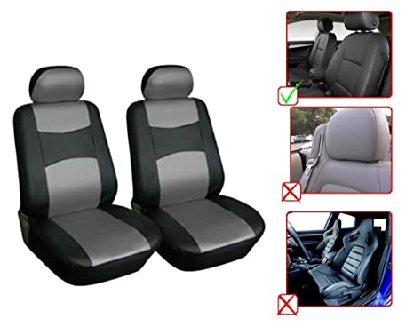 Amazoncom OPT Brand Leather Like Front Car Seat Covers - Acura rdx seat covers
