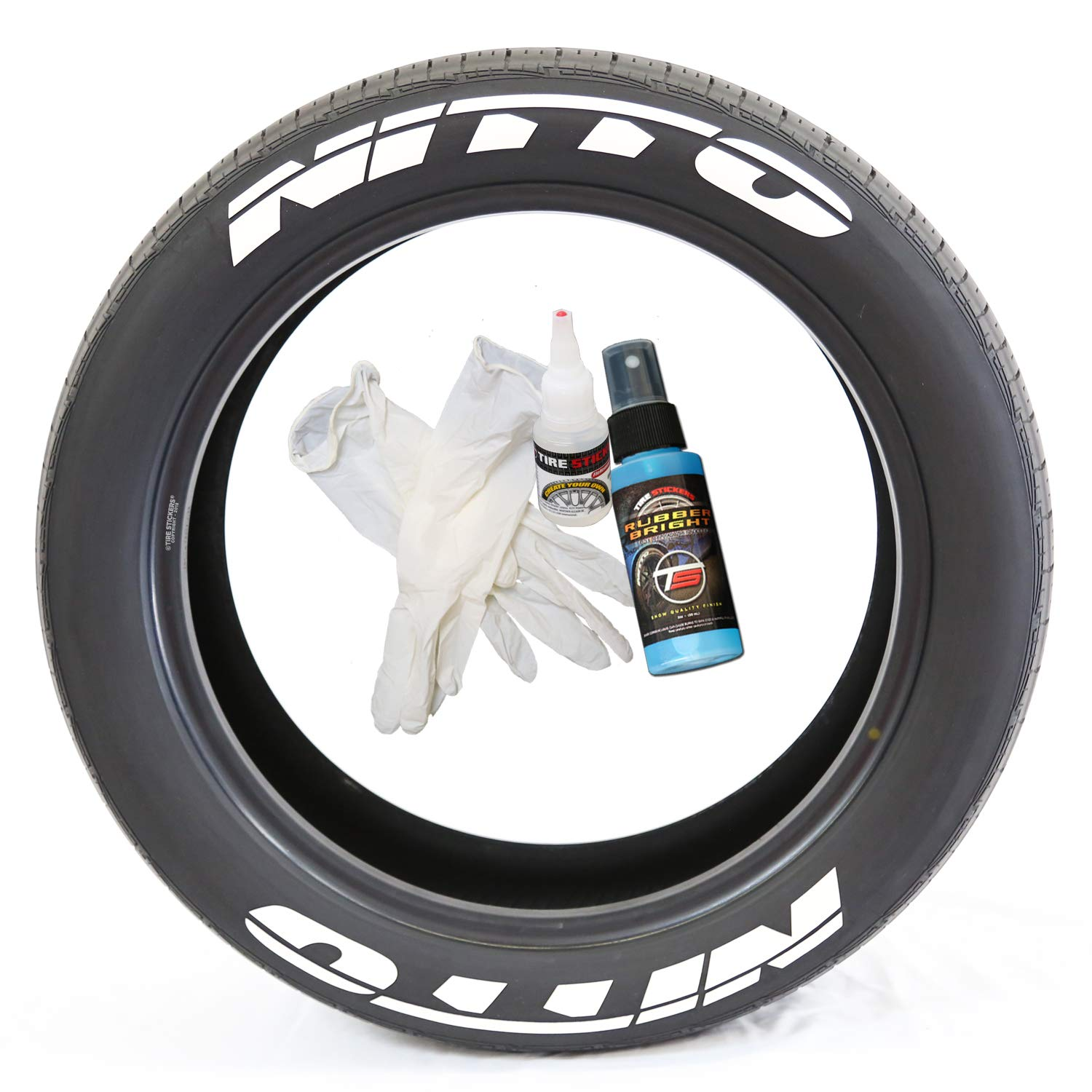 Amazon Nitto Permanent Tire Lettering Kit With Glue Gloves 2oz