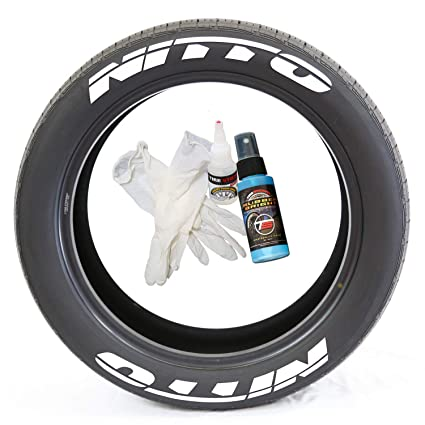 Amazon Com Nitto Permanent Tire Lettering Kit With Glue Gloves 2oz