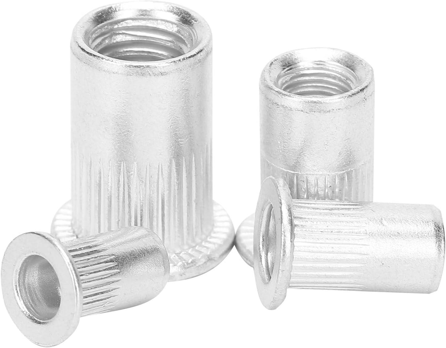 Heaveant Tuercas remachadoras ciegas 100 Piezas Juego de Tuercas remachadoras ciegas Tuerca Remachadora de Aluminio M4//M5//M6//M8 Accesorios de Hardware