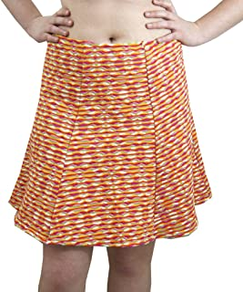 product image for Cheeky Banana Women's A-line Stretch Knit Skirt Orange Multi