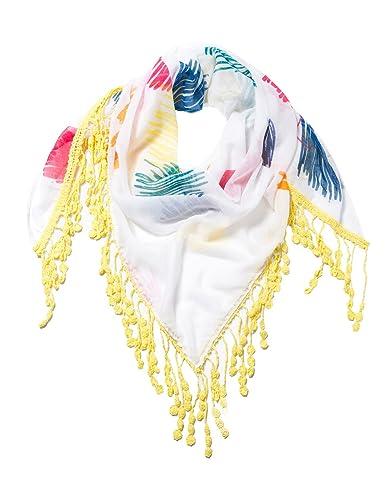 Desigual FOULARD_TRIANGLE Dream, Bufanda para Mujer, Blanco (Blanco 1000), Talla única (Talla del fabricante: One size)