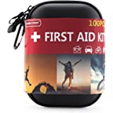 TIANBO FIRST First Aid Kit for Survival and Emergencies Light, Waterproof, Compact and Comprehensive - Perfect for Hiking, Backpacking, Camping, Travel, Car & Cycling, Outdoors or Sports