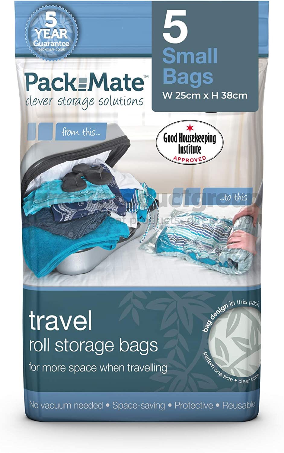 """Packmate Travel /""""roll by hand/"""" Vacuum Bag spacesaver luggage bags 70 x 50cm Premium quality market-leading brand reusable 4 Large"""