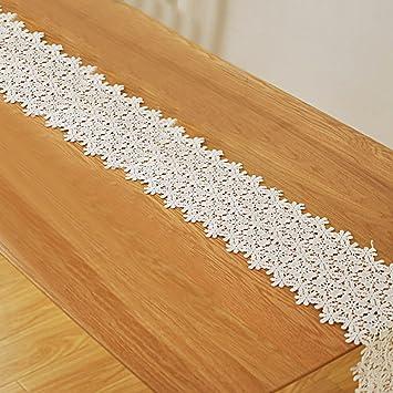 Tong Yue 2 rechteckig Crochet Spitze Hohl Blumen Tischdecke weiß ...