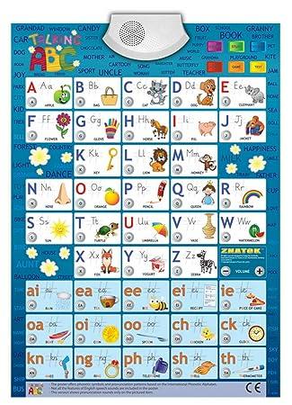 Talking ABC póster educativo y lúdico con sonidos para quienes comienzan a aprender inglés Póster ABECÉ interactivo: Amazon.es: Juguetes y juegos