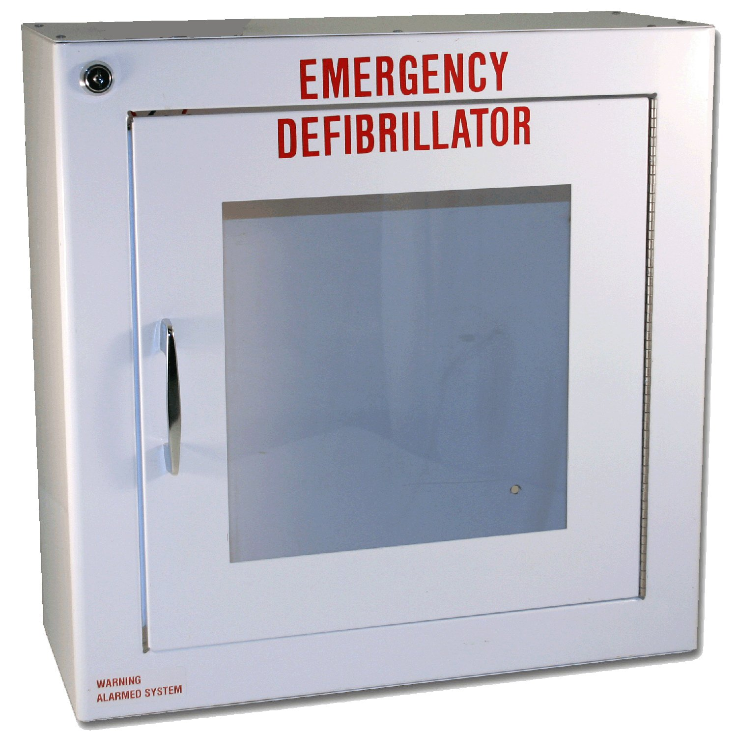 First Voice TS180SM-1 Medium Surface Mounted AED Cabinet with Alarm, 14' Width x 14' Height x 6.25' Depth 14 Width x 14 Height x 6.25 Depth Think Safe Inc.