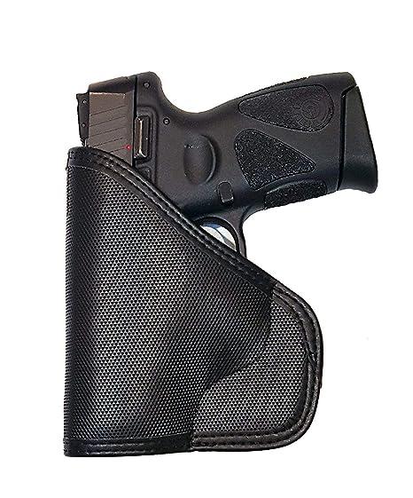 Taurus Garrison Grip Custom Fit Leather-Trimmed Pocket Holster Concealed  Carry Comfort, PT111 G2 Millennium (D)