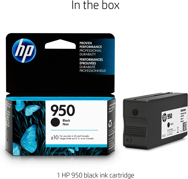 Lot of 2 Genuine HP 950 Black Ink Cartridges Retail Packaging CN049AN 6-2018