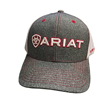 f86d2d6bbb450 Image Unavailable. Image not available for. Color  ARIAT Men s Heather Mesh  Back Shadow Cap ...