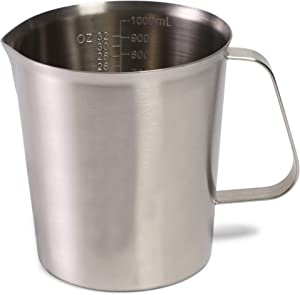 Juvale Stainless Steel Measuring Cup with Handle (32 oz, 1000ML)