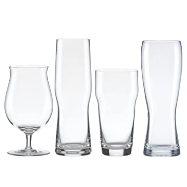 Lenox Tuscany Craft Beer Glass Collection Assorted Set, clear - 853383