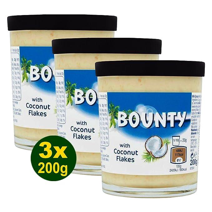Bounty Pasta para Barrar de Leche Con Copos de Coco - Paquete de 6 x 200