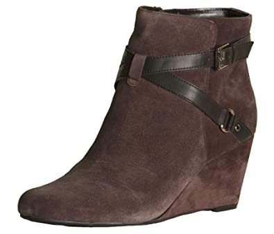 fee6ea0a1f2 Isaac Mizrahi Live! Women s Kast Suede Wedge Boots-Expresso-12