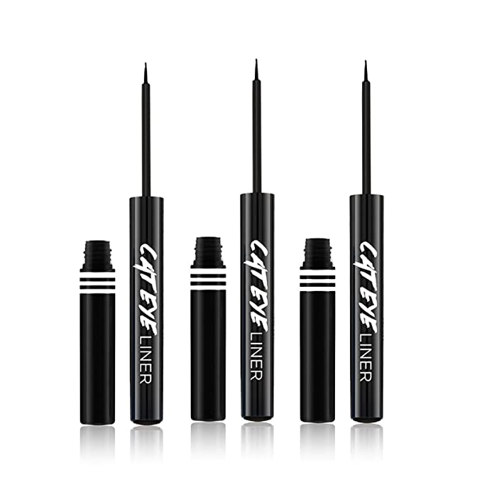 (3 Pack) JORDANA Cat Eye Liner - Black Leather