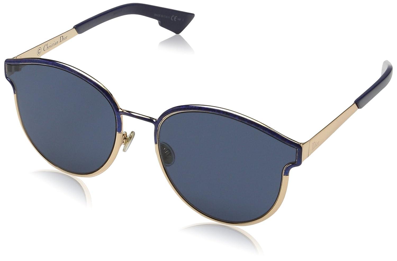 af9b0e292e Amazon.com  Christian Dior Symmetric blue marble rose gold blue Sunglasses   Clothing