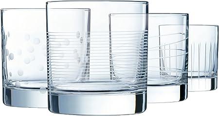 Eclat Illumination Set de 4 Vasos Forma Baja de 380 ml, Cristal