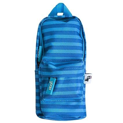 Yoobi Mini Backpack Pencil Case (Blue Stripe)