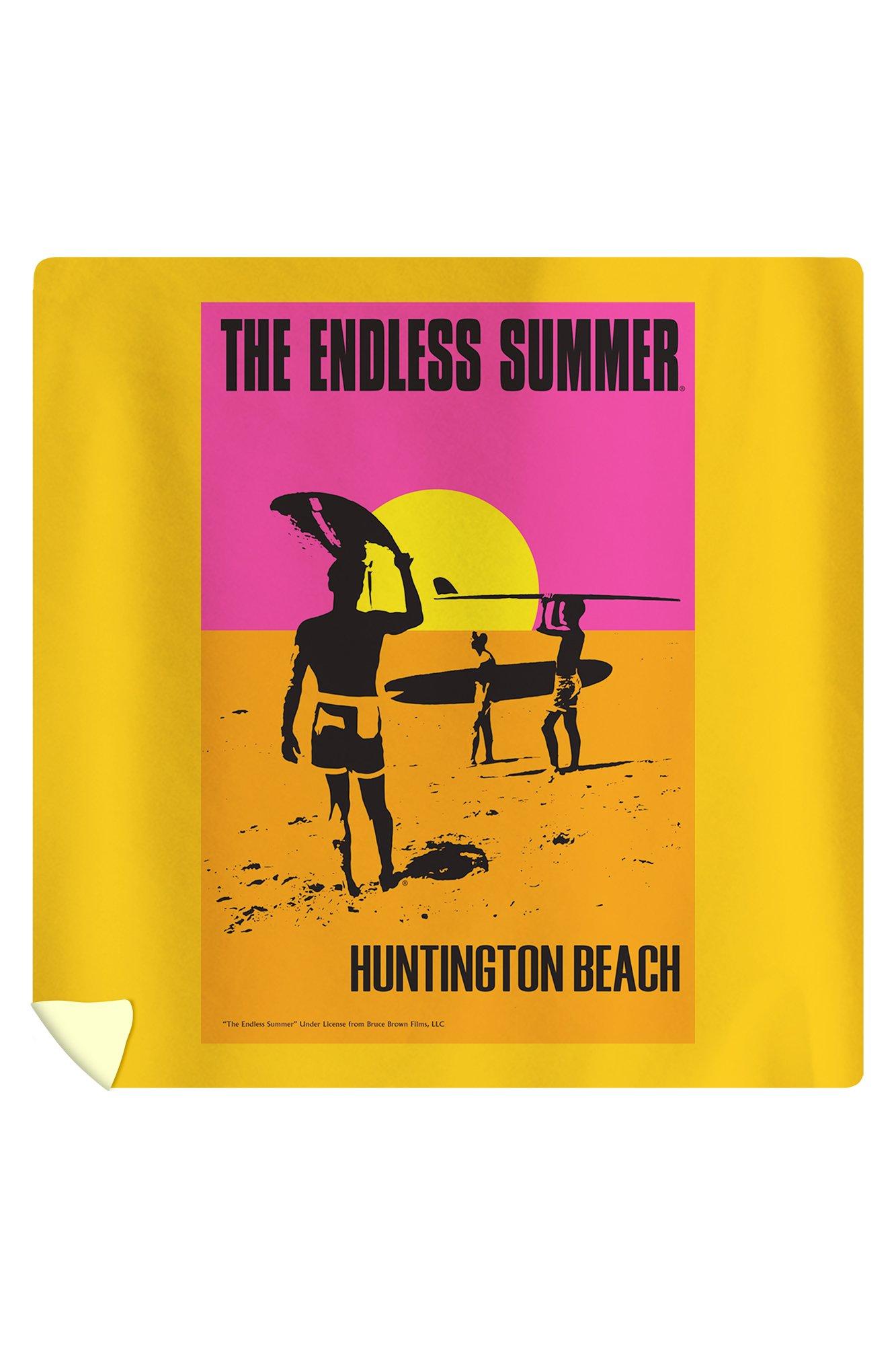 Huntington Beach, California - The Endless Summer - Original Movie Poster (88x88 Queen Microfiber Duvet Cover)