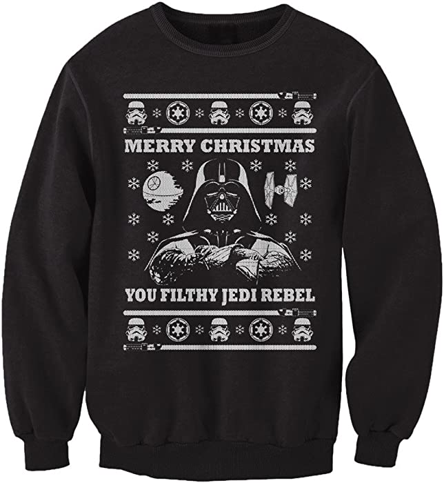 Amazoncom Freshrags Star Wars Parody Vader Ugly Christmas Sweater