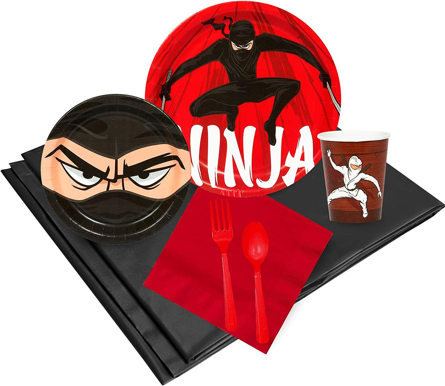 BirthdayExpress Ninja Warrior Party Supplies Basic Party Pack for 16