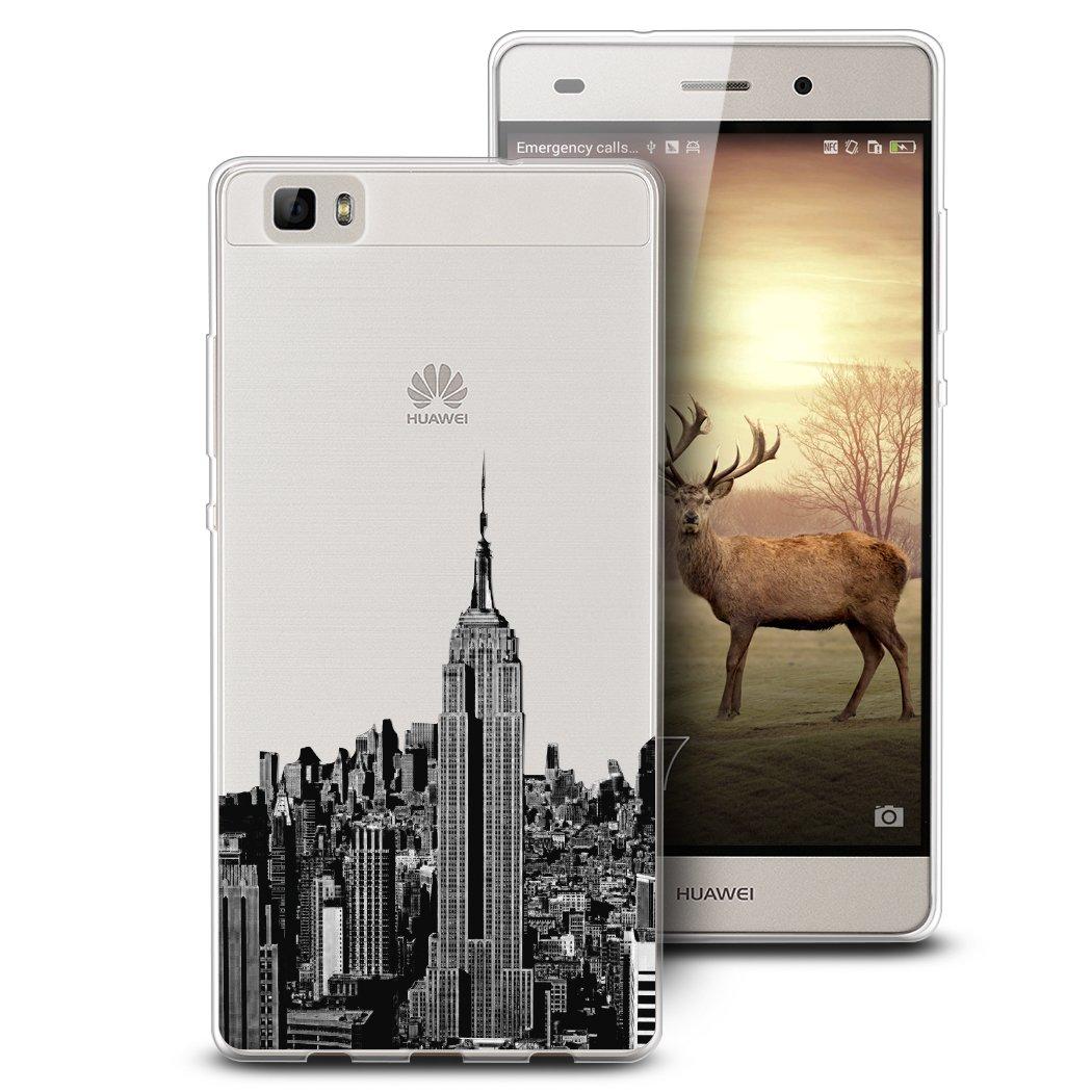 Amazon.com: Huawei P8 Lite Caso, casesbylorraine Cute patrón ...