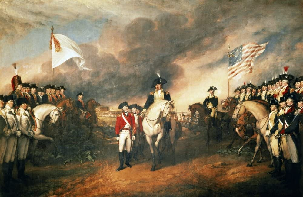 Yorktown Surrender 1781 Nthe Surrender Of Lord Charles Cornwallis At Yorktown Virginia At The End Of The American Revolutionary War 19 October 1781 From Left To Right General OHara Standing Front And