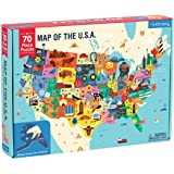 Mudpuppy Map of The United States Geography Puzzle (70 Piece)